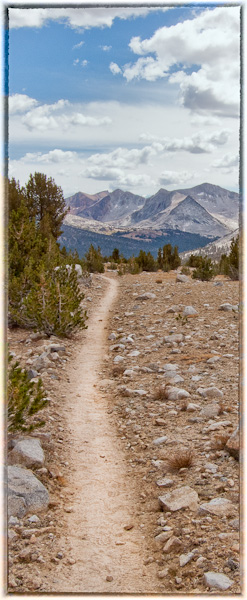 Hiking or backpacking along the John Muir Trail.