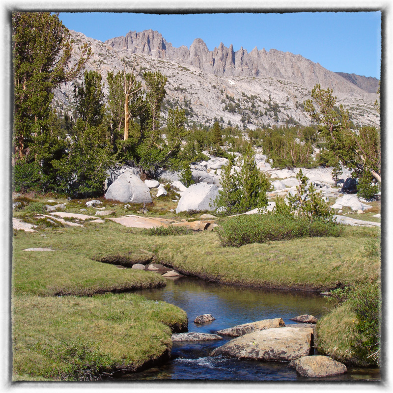 The Rush Creek drainage is one of my favorite stretches on the John Muir Trail. It's situated just south of Donohue Pass.