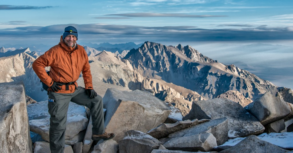 Ray at the summit of Mount Whitney.
