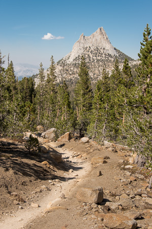 John Muir Trail and Cathedral Peak.