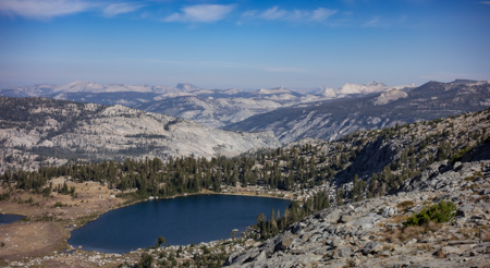 Looking toward Yosemite from the top of Isberg Pass.