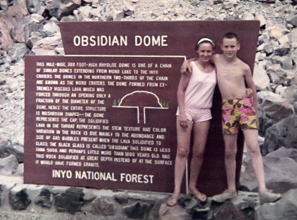 Mom and I in the Inyo National Forest in the late 60s.