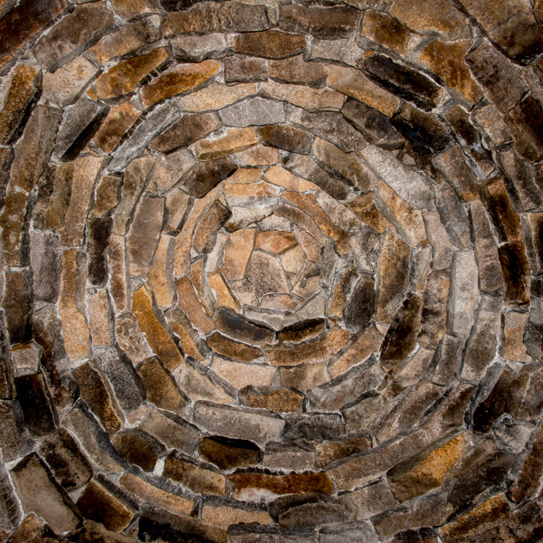 The ceiling of the hut is a work of art in its own right.